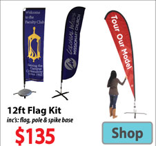 Visit 12ft Custom Printed Banner Flags - Advertising Display Products page