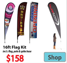 Visit 16ft Custom Printed Banner Flags - Advertising Display Products page
