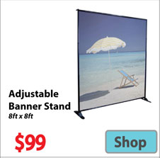 Visit 8x8 Adjustable Banner - Advertising Display Products page
