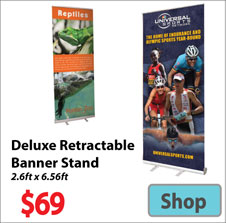 Visit Deluxe Retractable Banner - Advertising Display Products page
