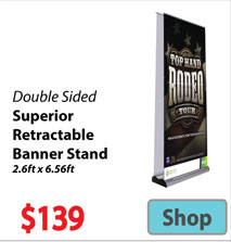 Visit Double Sided Superior Retractable Banner - Advertising Display Products page