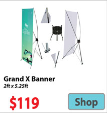 Visit Grand X Banner - Advertising Display Products page