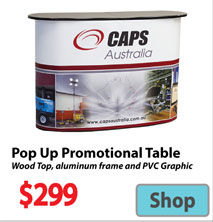 Visit Pop UP Promotional Event Table - Advertising Display Products page