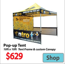 Visit Pop UP Promotional Event Tent - Advertising Display Products page