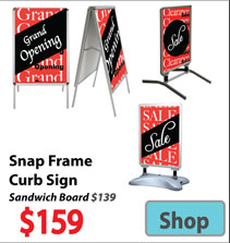 Visit Snap Frame Curb Signs - Advertising Display Products page
