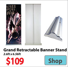Visit Superior Retractable Banner - Advertising Display Products page