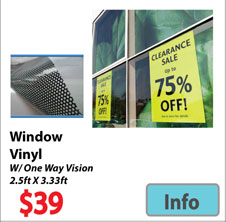 Visit Window Vinyls Page - Advertising Display Products